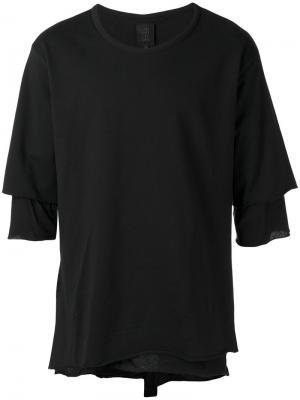 Многослойная футболка Thom Krom. Цвет: чёрный