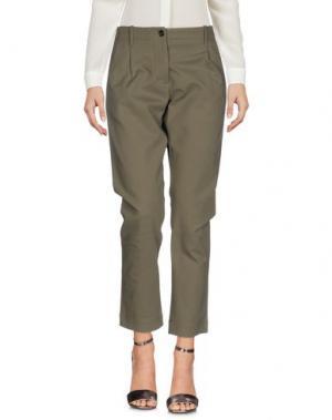 Повседневные брюки NINE:INTHE:MORNING. Цвет: зеленый-милитари