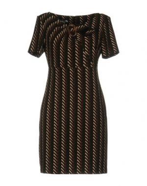 Короткое платье BIANCOGHIACCIO. Цвет: темно-зеленый