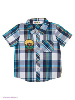 Рубашка Kidly. Цвет: голубой