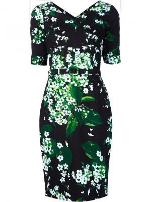 Платье с принтом Samantha Sung. Цвет: чёрный