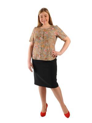 Блуза Интикома. Цвет: бежевый
