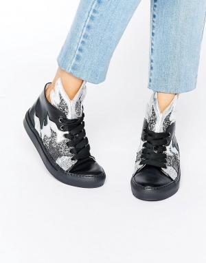 Minna Parikka Высокие кроссовки с блестками Thunderball. Цвет: мульти