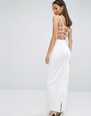 AQ Платье макси AQ/AQ Maier - Кремовый 4989932