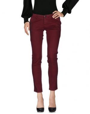 Повседневные брюки FIFTY FOUR. Цвет: красно-коричневый