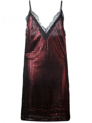 Платье с эффектом металлик House Of Holland. Цвет: чёрный