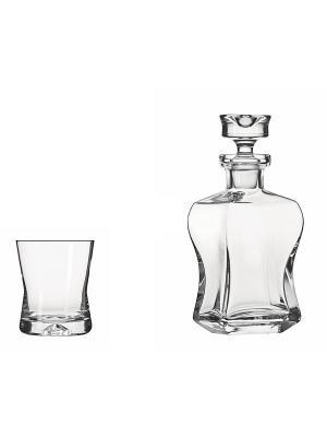 Набор для виски Whisky set (6 бокалов + графин) Krosno. Цвет: прозрачный
