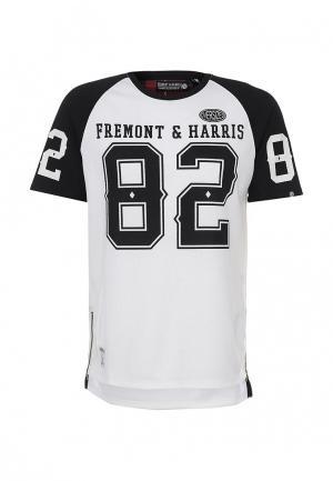 Футболка Fremont & Harris. Цвет: белый