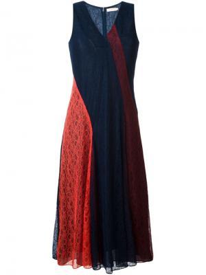Платье Iliana Tory Burch. Цвет: синий