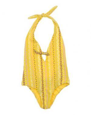 Слитный купальник FISICHINO. Цвет: желтый