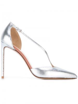 Туфли с заостренным носком Francesco Russo. Цвет: металлический