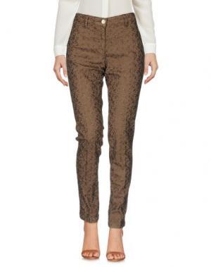 Повседневные брюки SHAFT DELUXE. Цвет: темно-коричневый