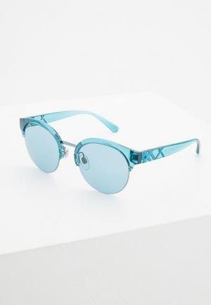Очки солнцезащитные Burberry. Цвет: голубой