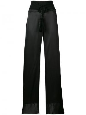 Flared trousers Ann Demeulemeester. Цвет: чёрный