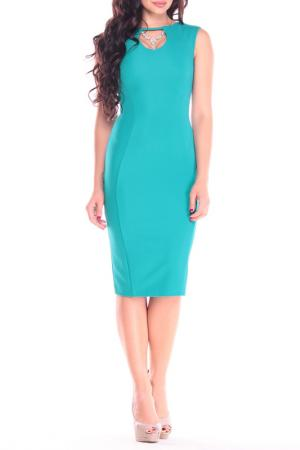 Облегающее платье с круглым вырезом REBECCA TATTI. Цвет: темно-изумрудный