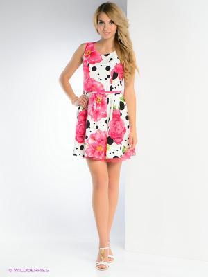 Платье TOPSANDTOPS. Цвет: розовый, белый