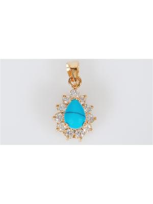 Подвеска с бирюзой Lotus Jewelry. Цвет: синий