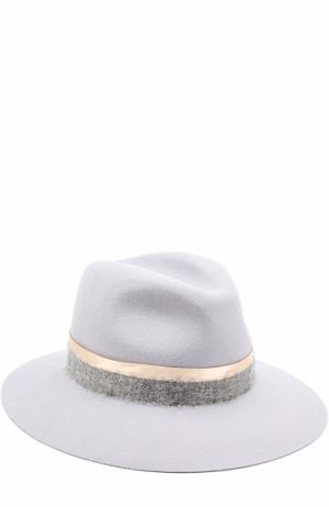 Фетровая шляпа Henrietta с лентой Maison Michel. Цвет: серый