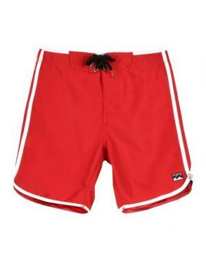 Пляжные брюки и шорты BILLABONG. Цвет: красный