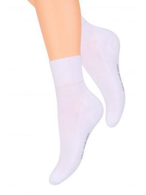 Комплект спортивных носков Steven, 35-37, белый, серо-голубой / черный Steven. Цвет: белый, черный, серо-голубой