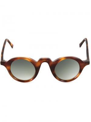 Солнцезащитные очки Retro Pantos  Barns Barn's. Цвет: коричневый