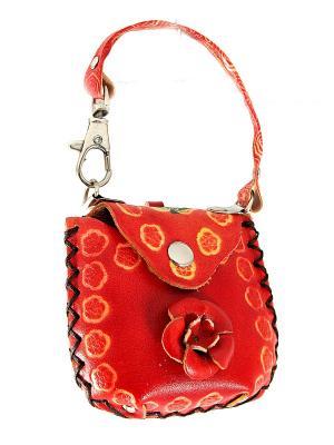 Брелок-ключница Сумочка Русские подарки. Цвет: рыжий