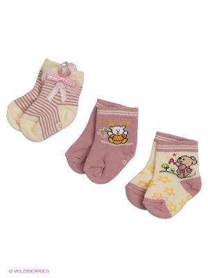 Носки для новорожденных PERA MAYA. Цвет: фиолетовый, кремовый