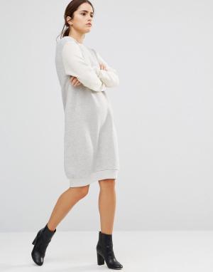 Uncivilised Платье‑свитшот Capricorn. Цвет: кремовый
