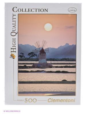 Пазл Италия, Трапани, Мельница в соляном поле,  500 эл. Clementoni. Цвет: бежевый