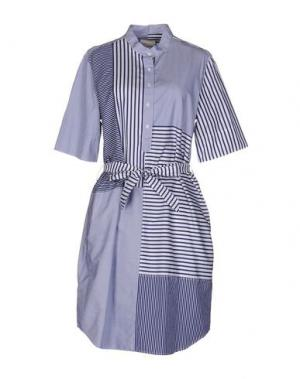 Платье до колена BAND OF OUTSIDERS. Цвет: синий