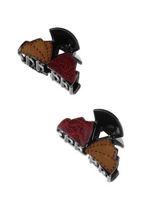 Комплект (Заколка краб - 2 шт.) Migura. Цвет: бордовый, коричневый, черный