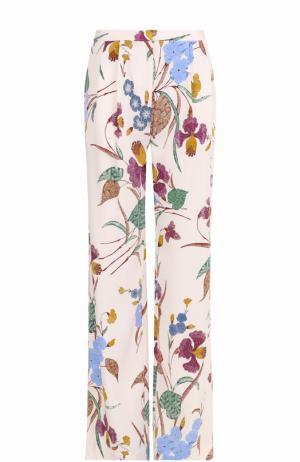 Широкие брюки с цветочным принтом и защипами Diane Von Furstenberg. Цвет: разноцветный