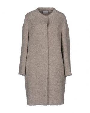 Пальто CAPPELLINI by PESERICO. Цвет: светло-серый