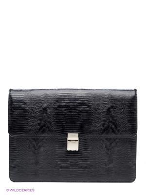 Портфель Petek. Цвет: черный, темно-серый