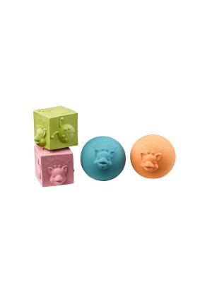 Sophie la girafe Игрушки в наборе: мячики, кубики. Цвет: синий, оранжевый, светло-зеленый