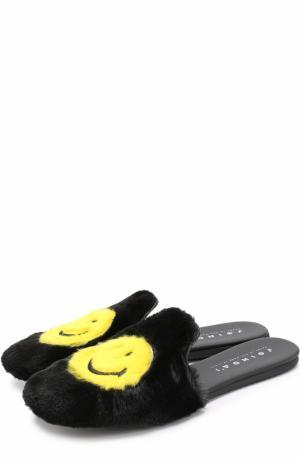Текстильные сабо Smile с носками в комплекте Joshua Sanders. Цвет: черный