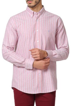 Рубашка THE TIME OF BOCHA. Цвет: розовый