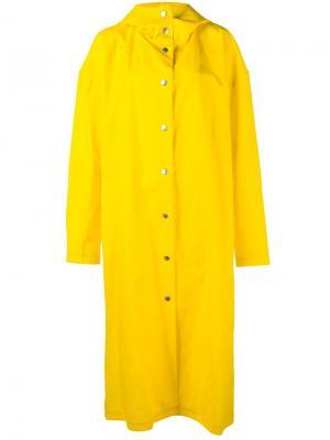 Длинный плащ A.W.A.K.E.. Цвет: жёлтый и оранжевый