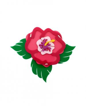 Брошь Hibiscus Yazbukey. Цвет: розовый
