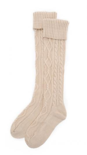 Уютные носки с вязкой косичками Free People