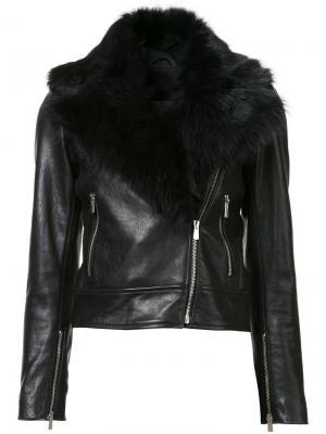 Байкерская куртка  Wolfe Rebecca Vallance. Цвет: чёрный