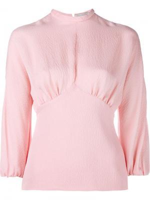 Sylvia Silk Top Emilia Wickstead. Цвет: розовый и фиолетовый