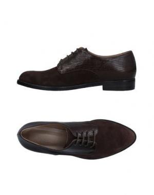 Обувь на шнурках LENA MILOS. Цвет: темно-коричневый