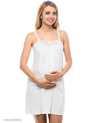Ночная сорочка для беременных Hunny Mammy. Цвет: молочный