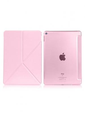 Чехол откидной Apple iPad 6 / Air 2 Remax Transformer розовый. Цвет: розовый