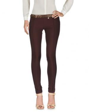 Повседневные брюки ELISABETTA FRANCHI GOLD. Цвет: какао