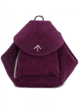Fernweh mini leather backpack Manu Atelier. Цвет: розовый и фиолетовый