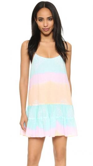 Трехцветное платье-майка Juliet Dunn. Цвет: розовый/персиковый/бирюзовый