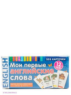 Карточки Мои первые английские слова АЙРИС-пресс. Цвет: синий