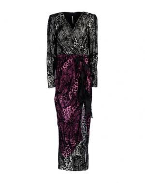 Длинное платье ALESSANDRA RICH. Цвет: свинцово-серый